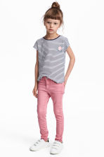 Twill trousers - Pink - Kids | H&M 1