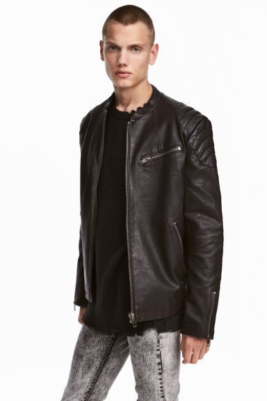 Biker jacket - Black -  | H&M