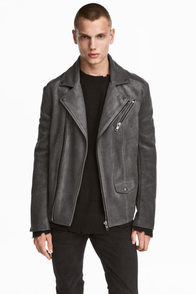 Biker jacket - Grey - Men | H&M 1