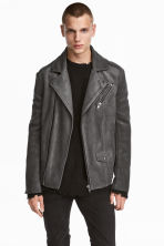 Biker Jacket - Gray - Men | H&M CA 1