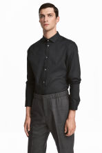 Premium cotton shirt - Black - Men | H&M CN 1