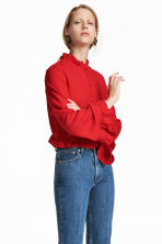 Frilled blouse - Red - Ladies | H&M 1