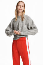 Mohair-blend Sweater - Gray melange - Ladies | H&M CA 1