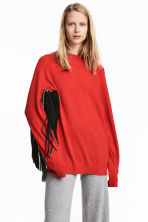 Cashmere jumper - Bright red - Ladies | H&M 1