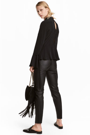 Leather trousers - Black - Ladies | H&M 1