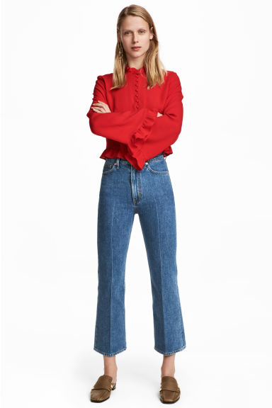 Kickflare High Ankle Jeans - 丹寧藍 - Ladies | H&M