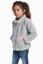 Pile jacket - Light grey marl - Kids | H&M 1