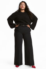 H&M+ Wide trousers - Black - Ladies | H&M 1