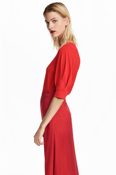 Jersey crêpe top - Red - Ladies | H&M IE