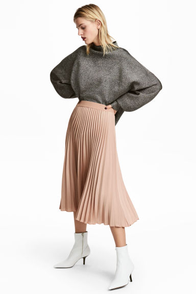 Pleated skirt - Light beige - Ladies | H&M