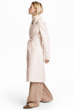 Wool-blend coat - Light beige - Ladies | H&M CN 1
