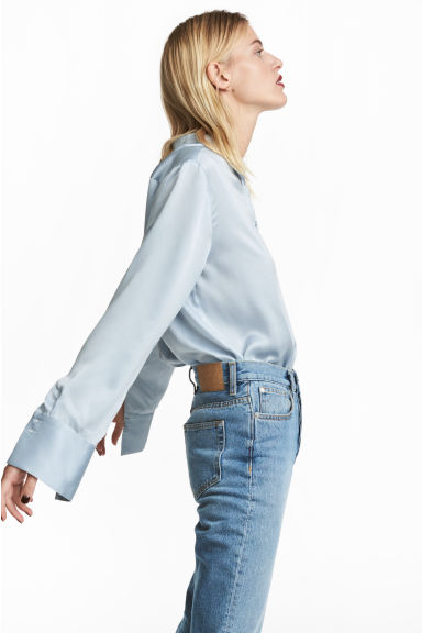 Silk shirt - Light blue - Ladies | H&M 1