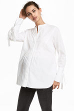 MAMA Cotton blouse - White - Ladies | H&M 1
