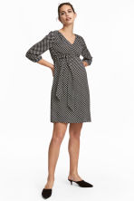 MAMA Patterned dress - Black/White spotted - Ladies | H&M 1