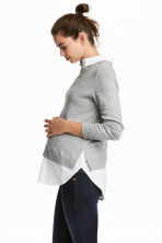 MAMA Jumper with a collar - Grey marl - Ladies | H&M CA 1