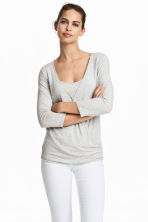 MAMA Nursing top - Light grey marl - Ladies | H&M CN 1