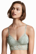 Bralette in pizzo - Verde menta - DONNA | H&M IT 1