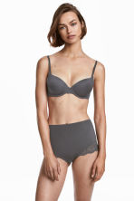 2-pack light shaping briefs - Dark gray/black - Ladies | H&M CA 1