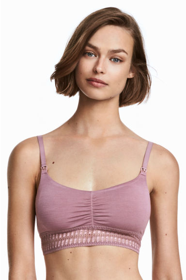 2-pack soft nursing bras - Purple - Ladies | H&M 1