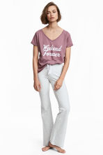 Pyjama top and bottoms - Grey/Plum - Ladies | H&M 1