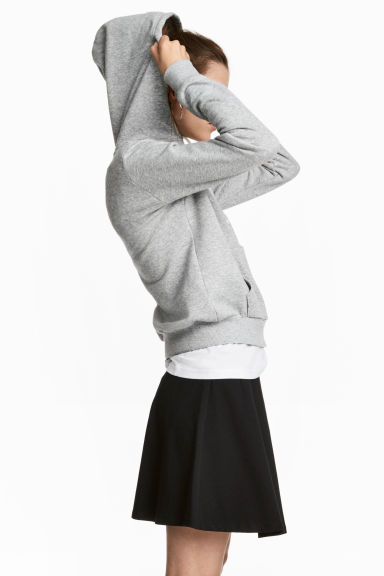 Hooded top - Grey marl - Ladies | H&M