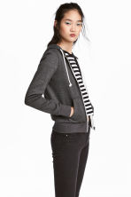 Hooded jacket - Dark grey marl - Ladies | H&M 1