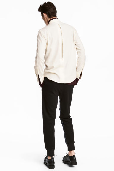 Brushed cotton shirt - Natural white - Men | H&M IE 1