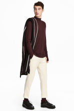 Long-sleeved wool top - Burgundy - Men | H&M 1