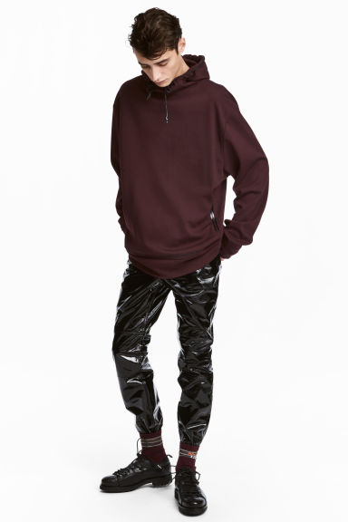 Lyocell hooded top - Burgundy - Men | H&M CN 1