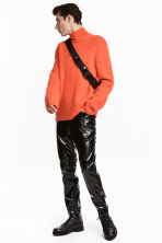 Ribbed polo-neck jumper - Orange - Men | H&M 1