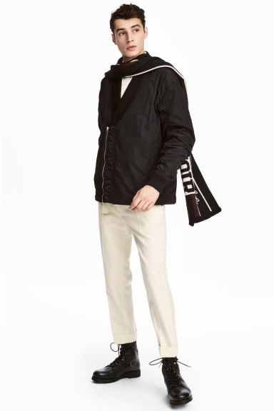 Shawl-collar bomber jacket - Black - Men | H&M 1