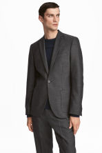 Jacket Slim fit - Dark grey - Men | H&M 1