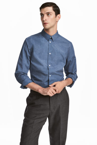 Shirt Slim fit - Light blue -  | H&M GB