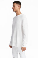 Textured-knit jumper - White - Men | H&M 1