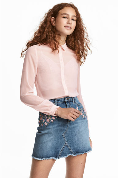 Chiffon blouse - Old rose - Ladies | H&M 1