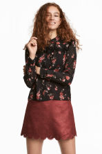 Blouse with ties - Black - Ladies | H&M 1