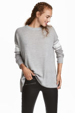 Knitted jumper - Light grey marl - Ladies | H&M IE 1