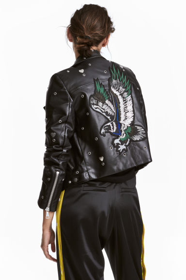 Biker jacket - Black - Ladies | H&M CN