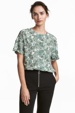 Crêpe top - White/Paisley - Ladies | H&M 1