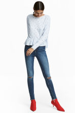 Slim High Trashed Jeans - Denim blue - Ladies | H&M CN 1