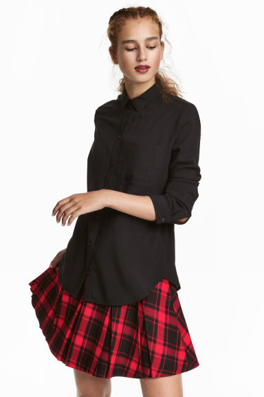Viscose shirt - Black - Ladies | H&M