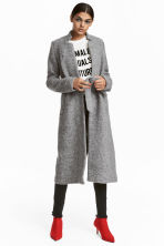 Wool-blend coat - Grey marl - Ladies | H&M IE 1