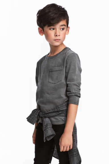 Jersey top - Dark grey -  | H&M CN 1
