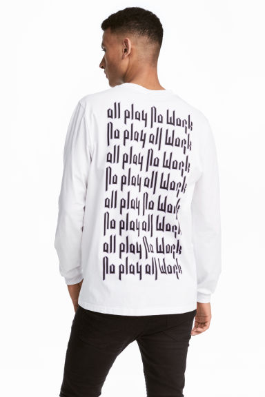 Long-sleeved top - White/All play - Men | H&M CN 1