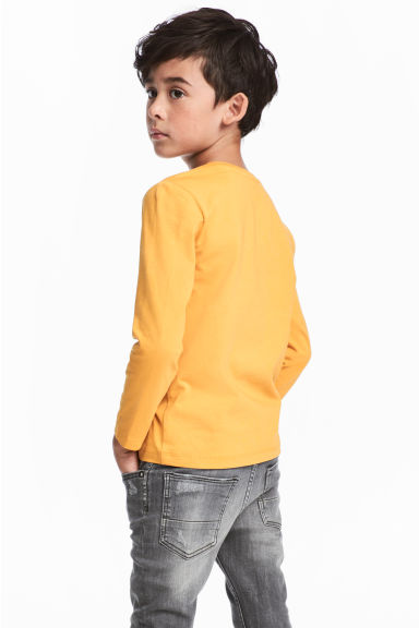 Jersey top - Mustard yellow -  | H&M 1