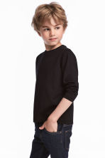 Jersey top - Black - Kids | H&M 1