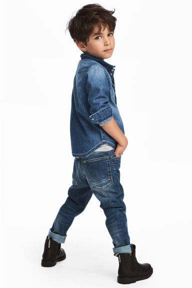 Relaxed Tapered fit Jeans - Bleu denim - ENFANT | H&M CH 1
