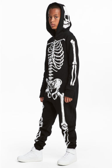 Sweatshirt all-in-one suit - Black/Skeleton -  | H&M CN 1