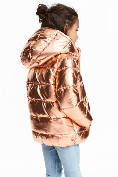 Padded jacket with a hood - Gold-coloured -  | H&M CN 1
