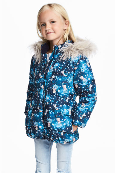 Padded jacket - Blue/Frozen - Kids | H&M